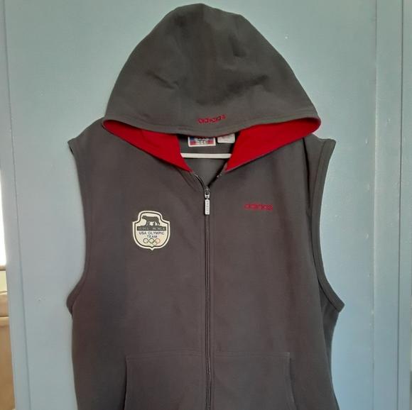 Adidas fleece vest men's